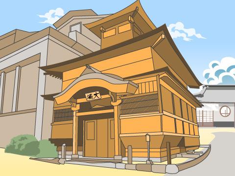 野沢温泉の「大湯」(長野県)