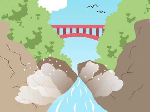小安峡の大噴湯 (秋田県)