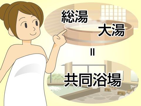 「総湯」、「大湯」とも呼ばれる共同浴場