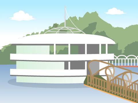 海に浮かぶ水族館