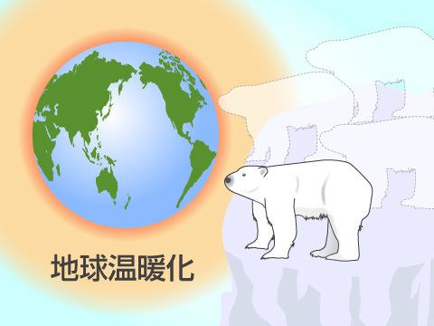 人間と地球温暖化が天敵に