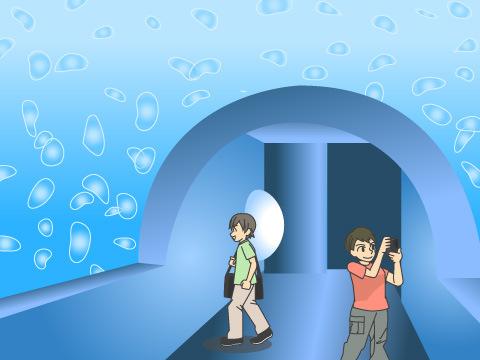 サンシャイン水族館 クラゲトンネル
