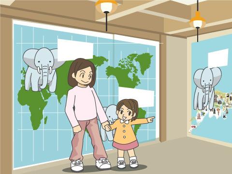 「ゾウのものしり館」にも足を運ぼう