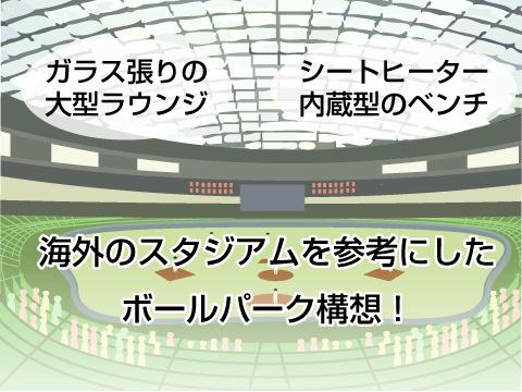 海外のスタジアムを参考にしたボールパーク構想