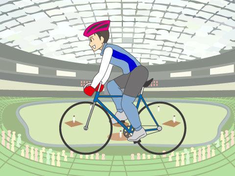 東京ドームで自転車競技