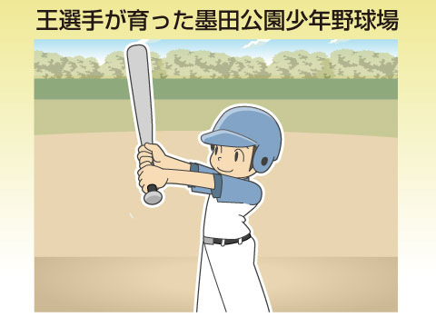 王選手が育った隅田公園少年野球場
