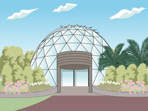 もちろん、有用植物園全体の見学も