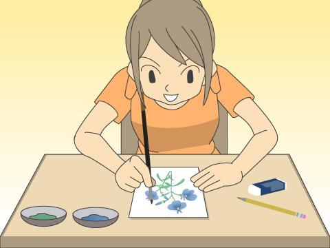 ボタニカルアートを描いてみよう!