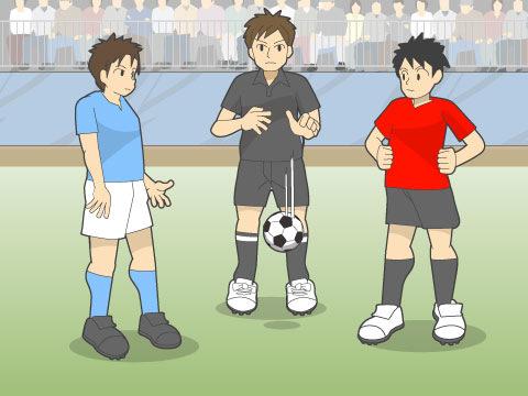 サッカー ドロップ ボール