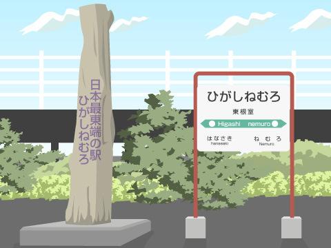 日本一東にある駅