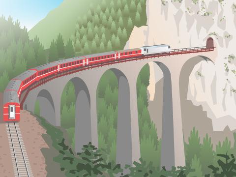 世界的な鉄道スポット:世界遺産編