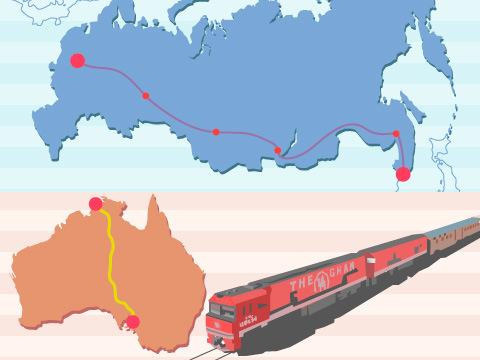世界的な鉄道スポット:貴重な便編