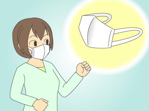 花粉症用マスクの装着