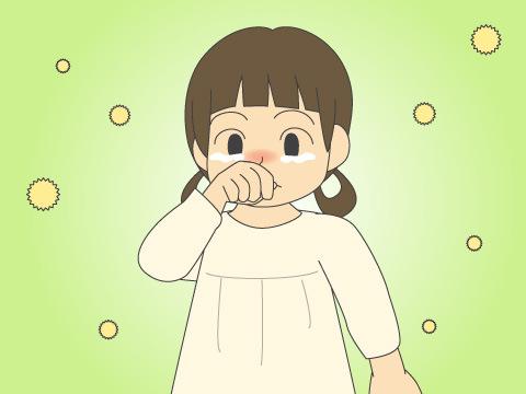子どもの花粉症は症状が少し違う
