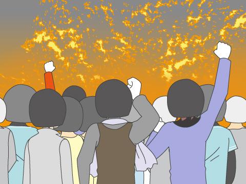 鹽水爆竹祭り(いぇんしゅぇいばくちくまつり)/台湾