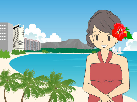 ワイキキビーチ/ハワイ