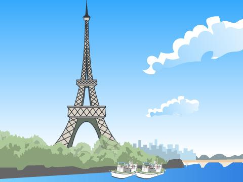 パリのセーヌ河岸/フランス