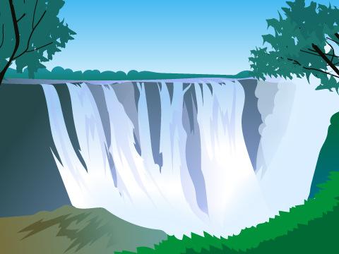 モシ・オ・トゥニャ/ヴィクトリアの滝/ジンバブエ・ザンビア