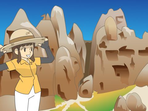 ギョレメ国立公園とカッパドキアの岩窟群/トルコ