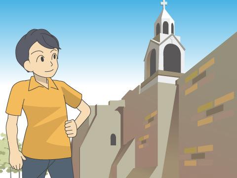 ベツレヘムの聖誕教会と巡礼路/パレスチナ